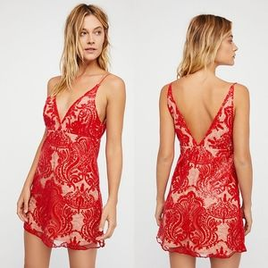 NWT Free People Night Shimmers Mini Dress